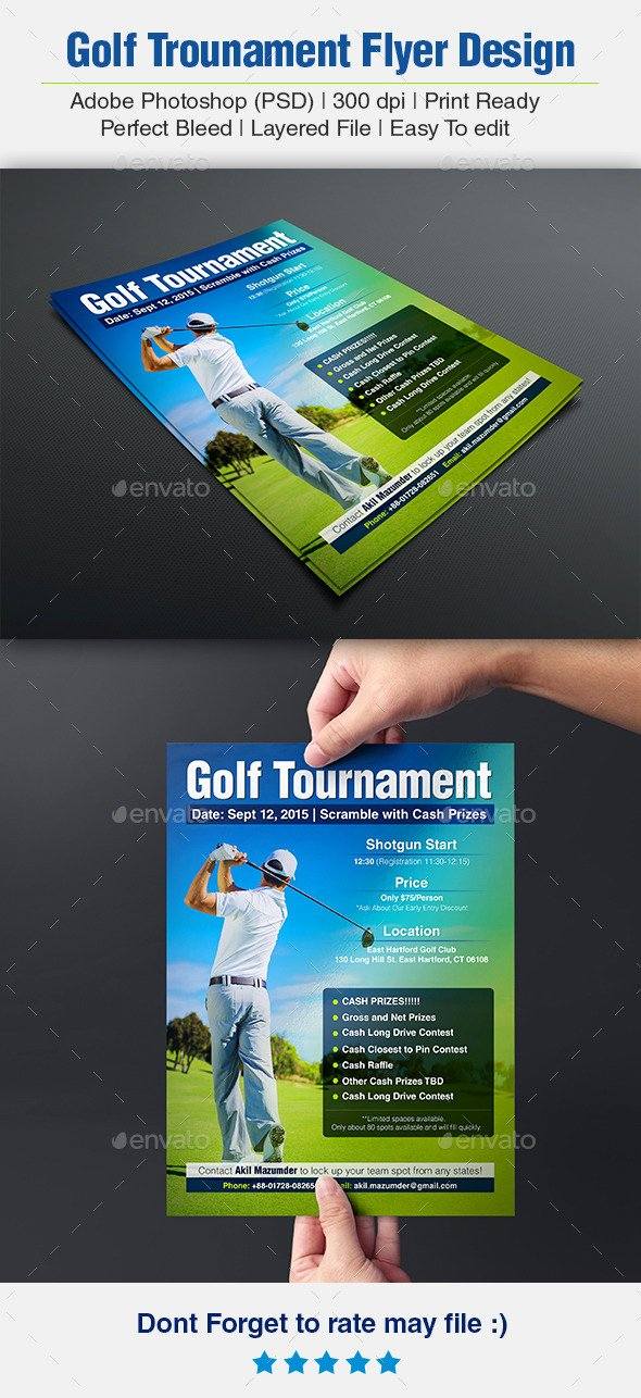 Golf Scramble Flyer Template Elegant Free Golf Scramble Flyer Template Tinkytyler Stock