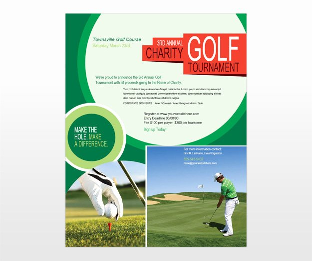Golf Scramble Flyer Template Elegant Golf tournament & Golf Scramble Flyer Template
