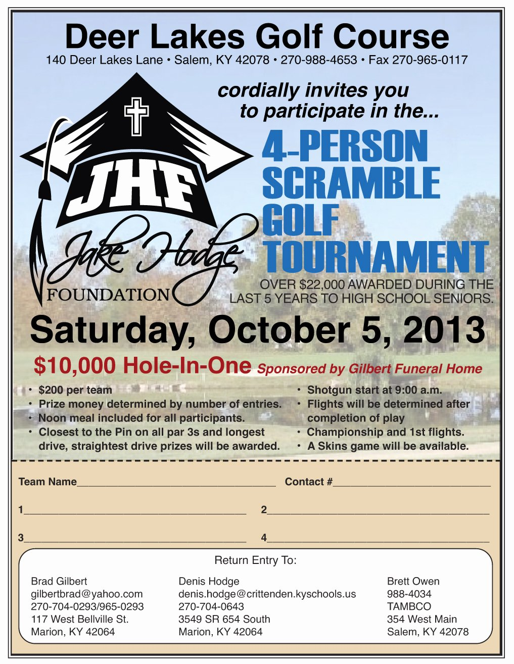 Golf Scramble Flyer Template Elegant Jake Hodge Memorial Foundation