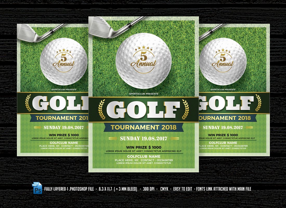 Golf Scramble Flyer Template Fresh Golf Flyer Flyer Templates Creative Market