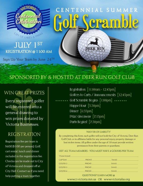 Golf Scramble Flyer Template Fresh News
