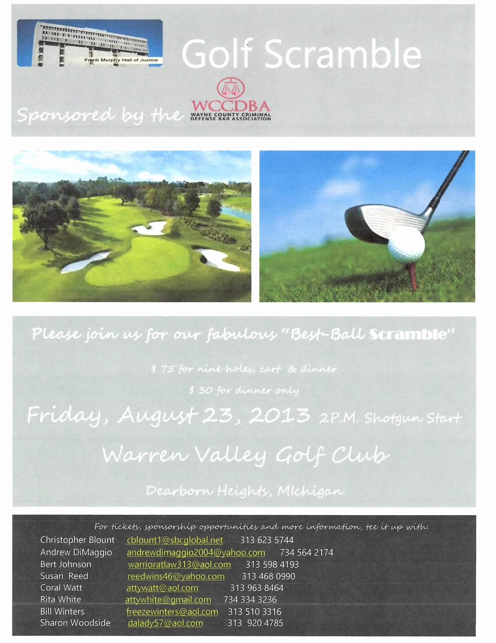 Golf Scramble Flyer Template New Wayne County Criminal Defense Bar association events