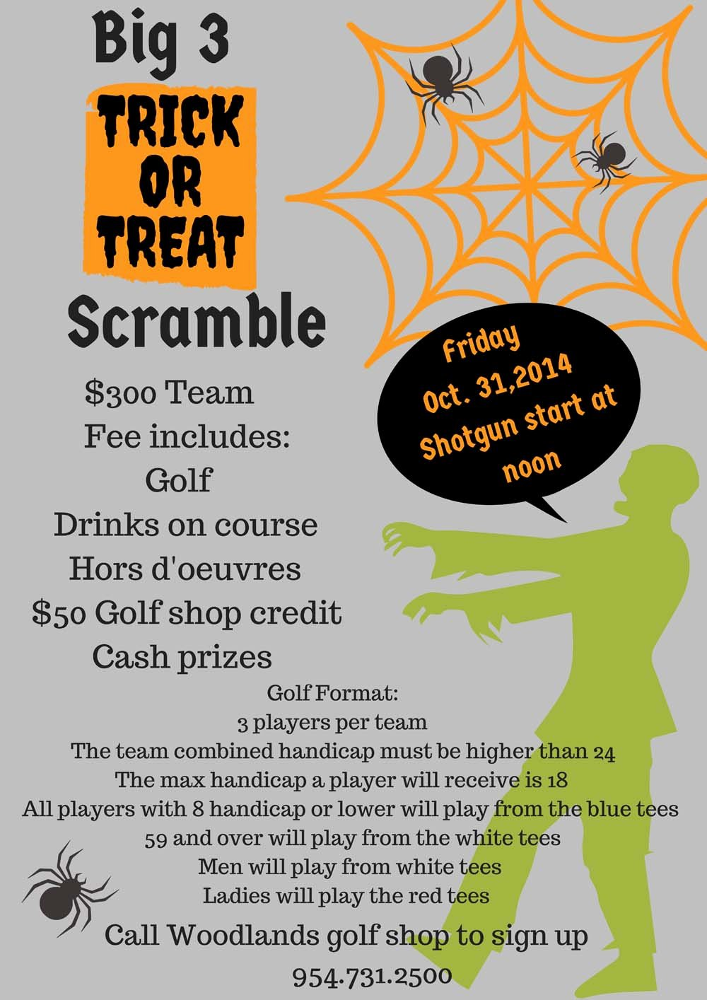 Golf Scramble Flyer Template New Woodlands Residents Invited to Participate In Trick or