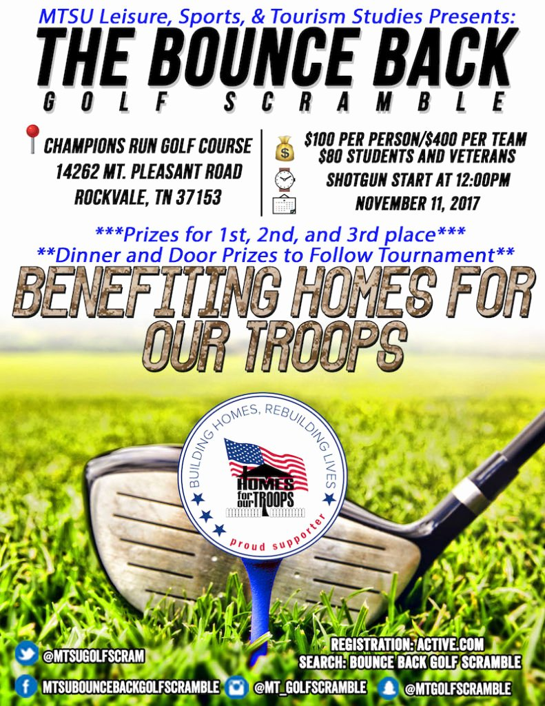 Golf Scramble Flyer Template Unique Bounce Back Golf Scramble – Murfreesboro