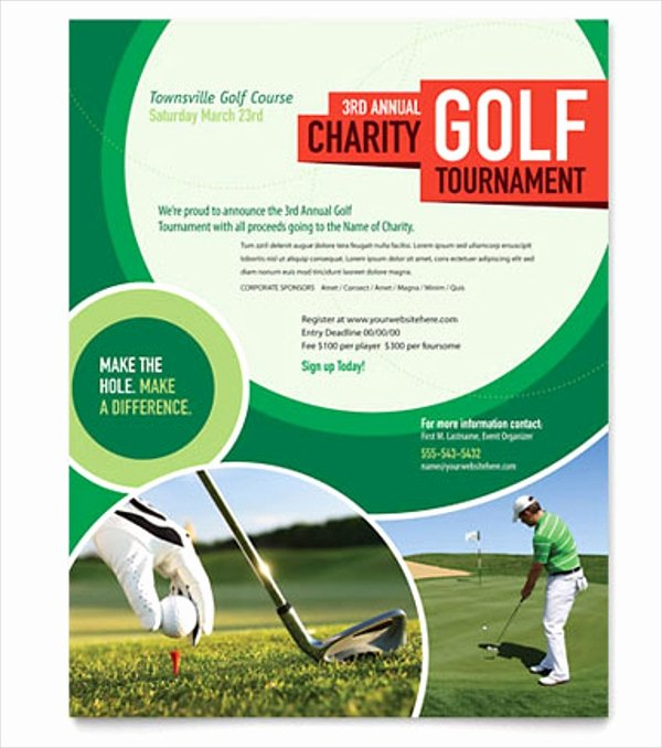 Golf tournament Flyers Template Fresh 25 Golf Flyers Templates Word Psd Ai Eps Vector