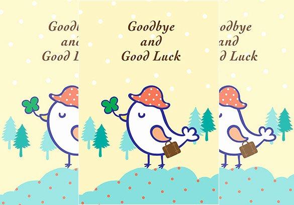 Good Luck Card Template Awesome 13 Farewell Card Templates Psd Ai