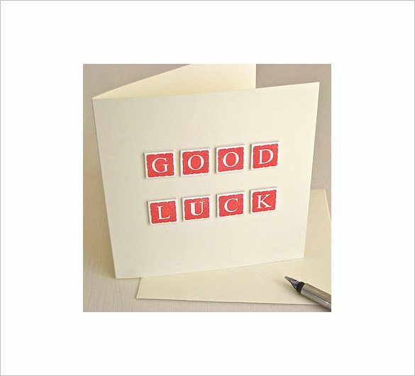 Good Luck Card Template Awesome 18 Good Luck Card Templates Psd Ai Eps