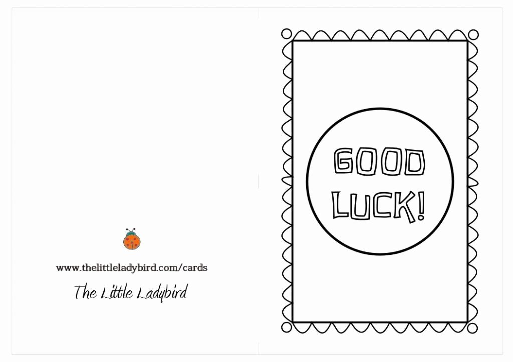 Good Luck Card Template Awesome Good Luck Printable Cards Vsmetalsgroup