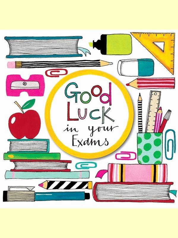 Good Luck Card Template Fresh 18 Best Exams Good Luck Images On Pinterest