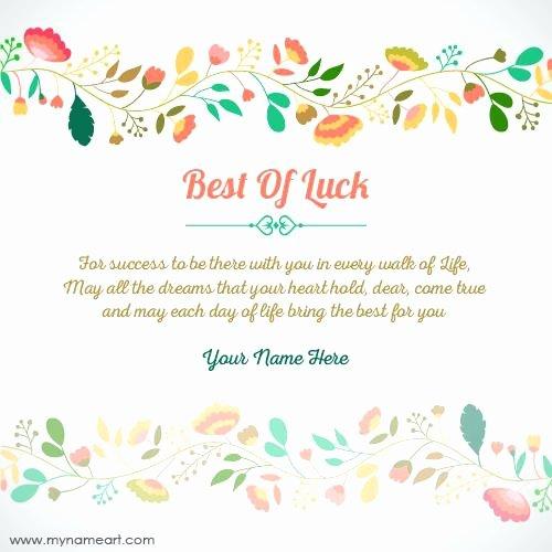Good Luck Card Template Inspirational Good Luck Card Template – Cassifields
