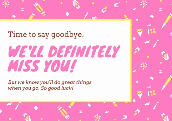 Good Luck Card Template Inspirational Good Luck Card Templates Canva