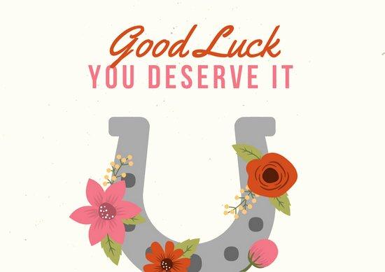 Good Luck Card Template Lovely Customize 19 Good Luck Card Templates Online Canva