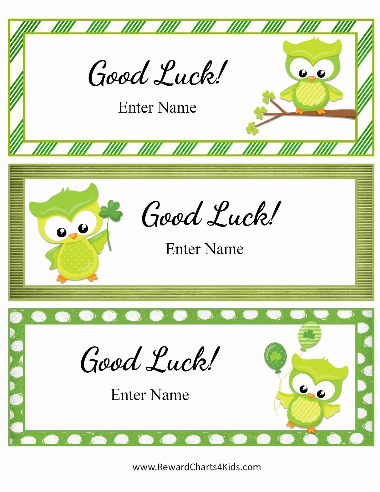 Good Luck Card Template Lovely Good Luck Card Template Portablegasgrillweber