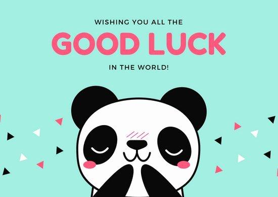 Good Luck Card Template Luxury Customize 388 Good Luck Card Templates Online Canva