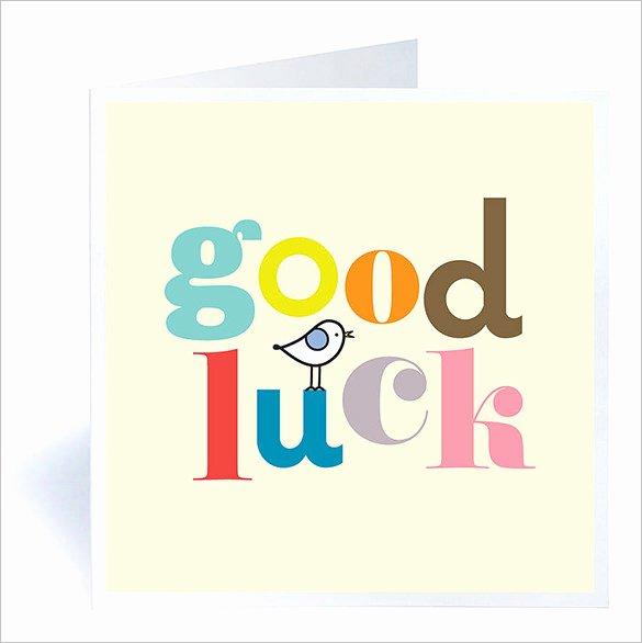 Good Luck Card Template New 7 Good Luck Card Templates Psd Eps