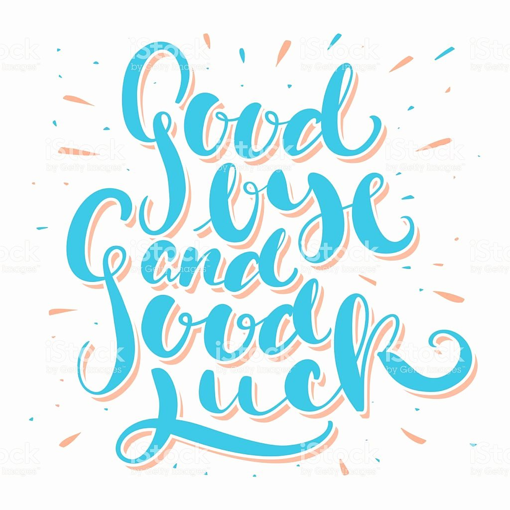 Good Luck Card Template New Farewell Border Clipart Collection