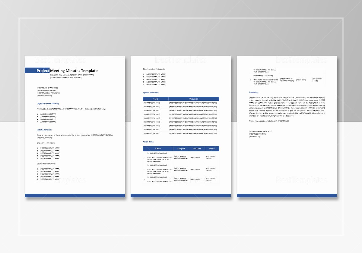 Google Docs Meeting Minutes Template Awesome Project Meeting Minutes Template In Word Google Docs