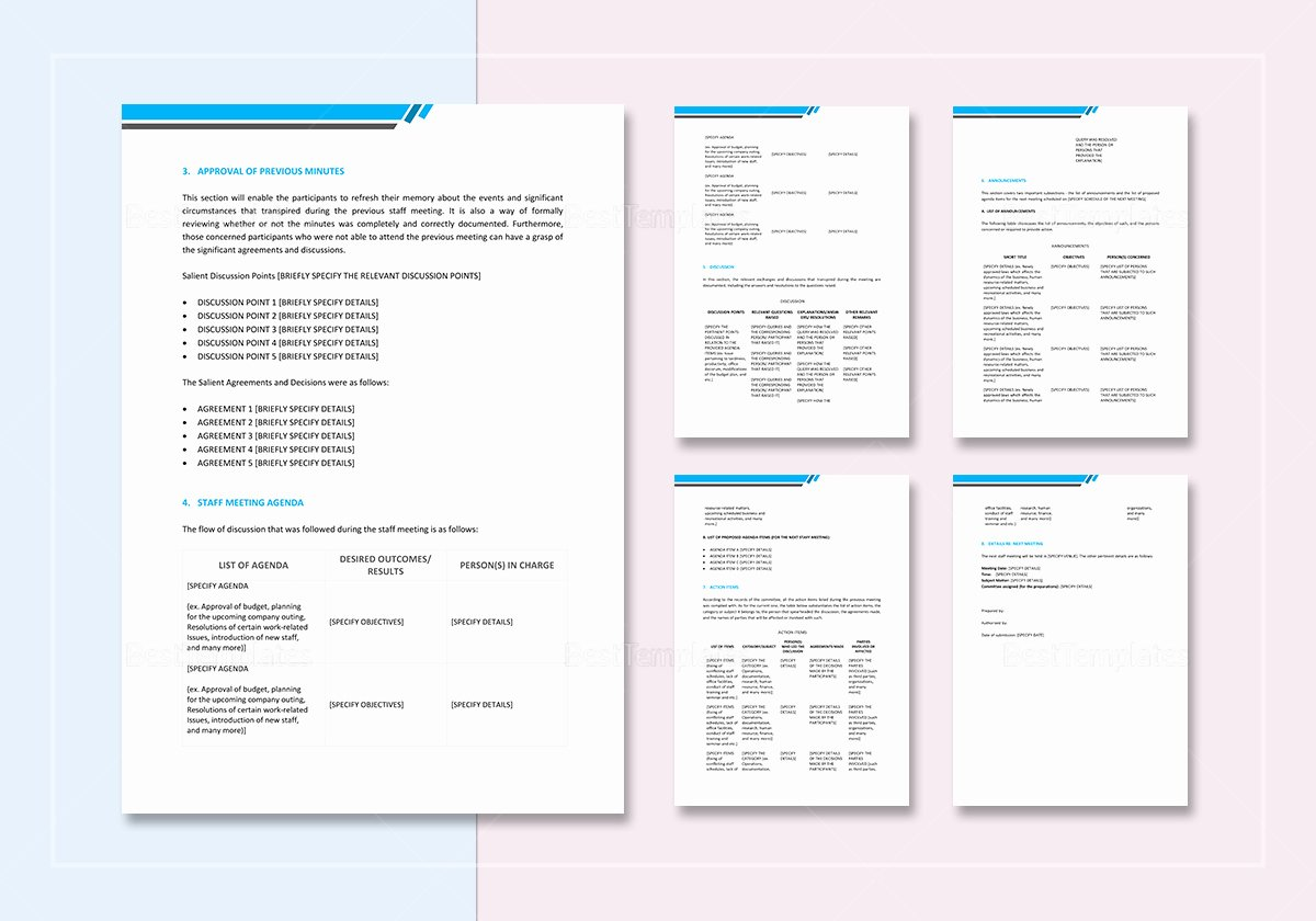 Google Docs Meeting Minutes Template Beautiful Staff Minutes Of Meeting Template In Word Google Docs