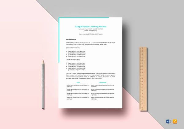 Google Docs Meeting Minutes Template Lovely Free Meeting Minutes Templates – 17 Free Sample Example