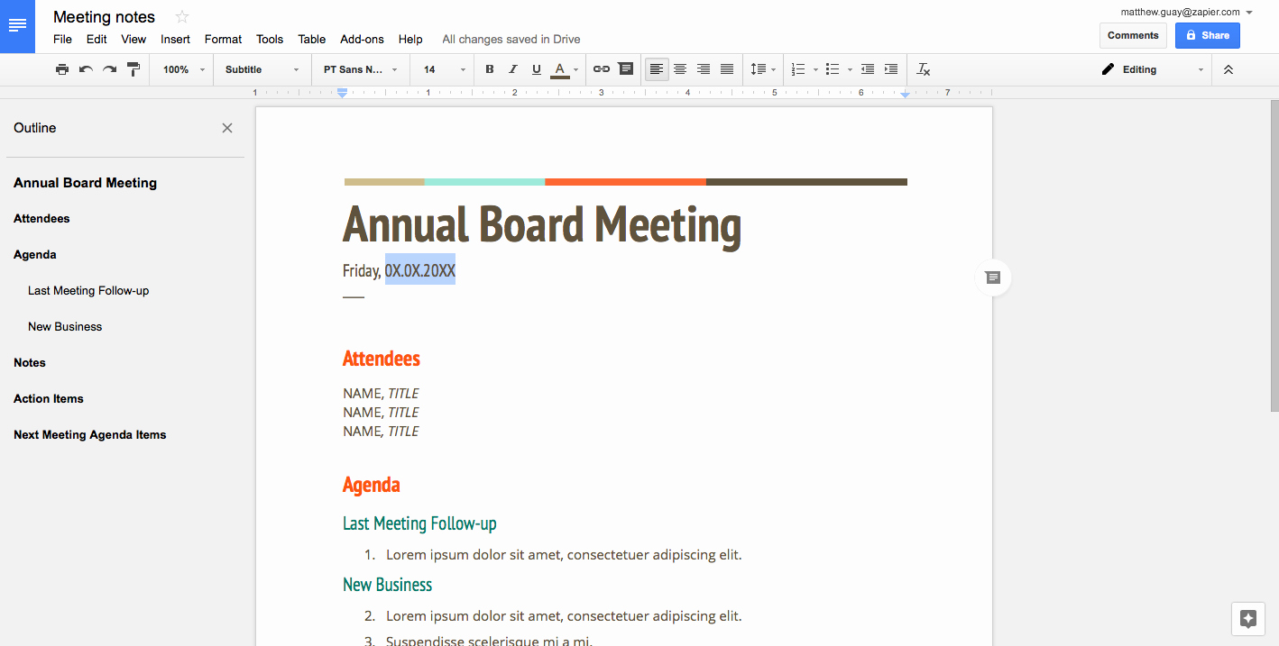 Google Docs Meeting Minutes Template New How to Create A Fillable Template In Google Docs How to