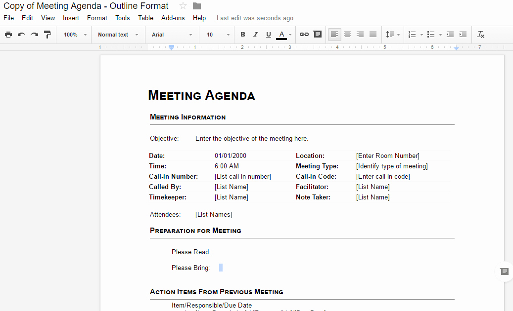 Google Docs Meeting Minutes Template Unique the Ultimate Guide to Google Docs