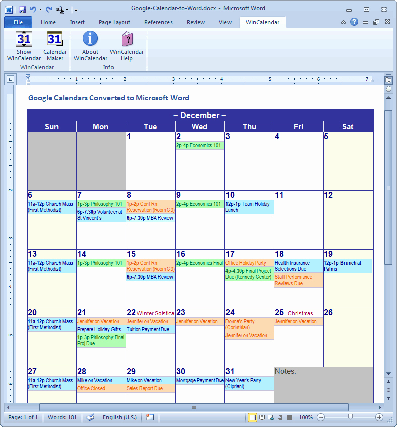 Google Sheets Schedule Template Fresh Import Google Calendar to Excel and Word