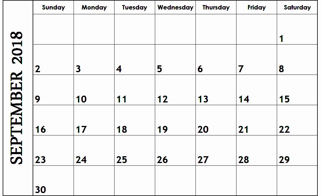 Google Sheets Schedule Template Inspirational September 2018 Google Sheets Calendar Templates