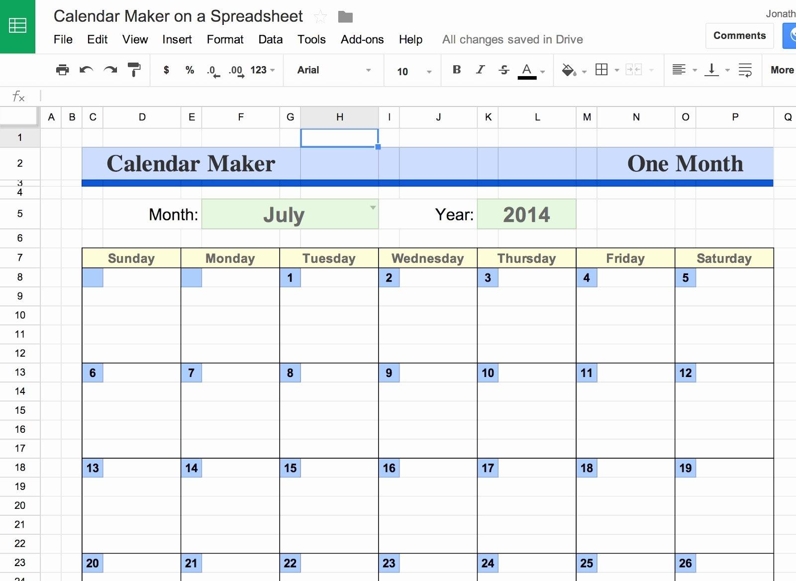 Google Sheets Schedule Template Lovely Google Docs Calendar Spreadsheet Template