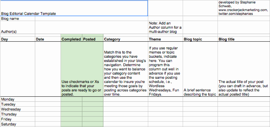 Google Sheets Schedule Template New Editorial Calendar Templates for Content Marketing the