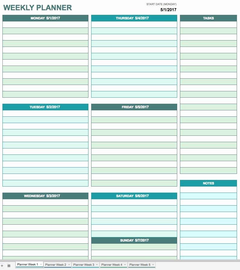 Google Sheets Schedule Template New Free Google Calendar Templates