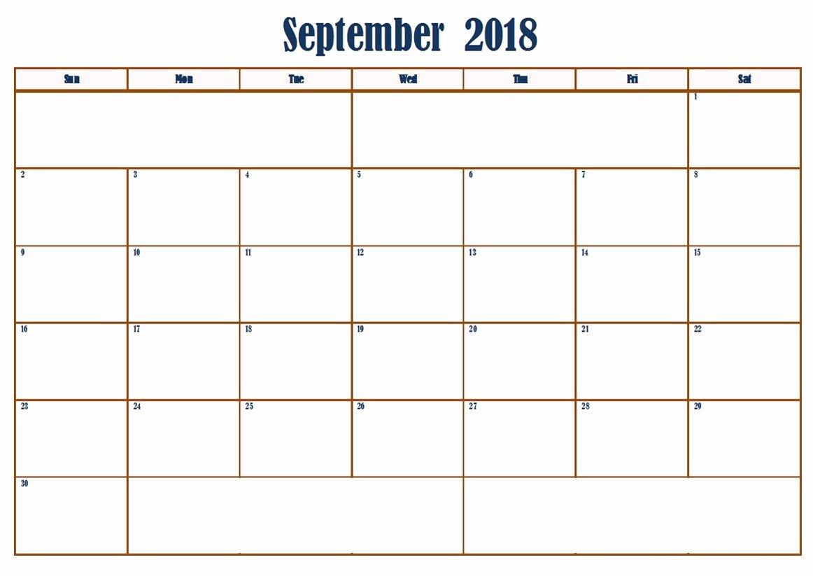 Google Sheets Schedule Template New September 2018 Google Sheets Calendar Templates