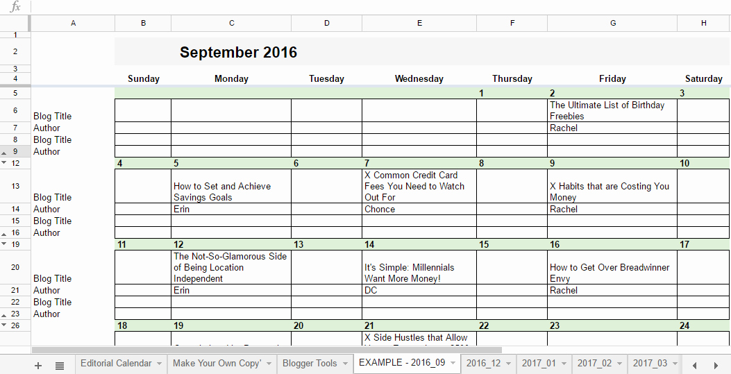 Google Sheets Schedule Template Unique Free 2019 Editorial Calendar In Google Sheets
