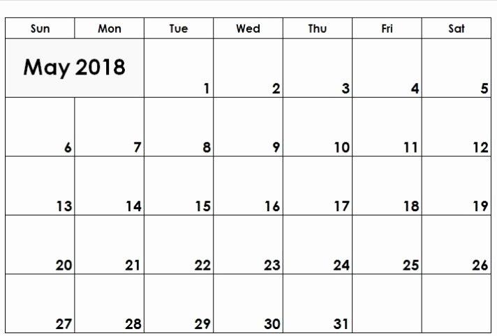 Google Sheets Schedule Template Unique May 2018 Calendar Google Sheets Templates