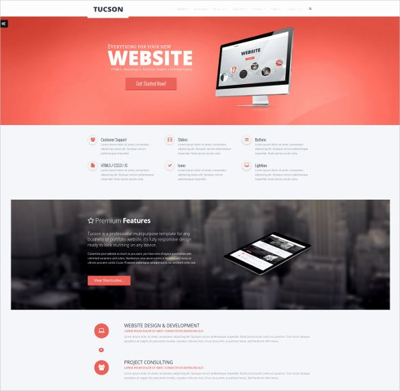 Google Web Page Template Awesome 27 Google Website themes & Templates
