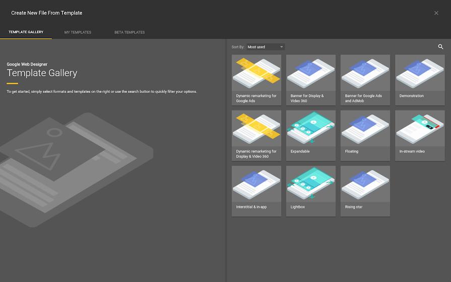 Google Web Page Template Fresh Using Templates Google Web Designer Help