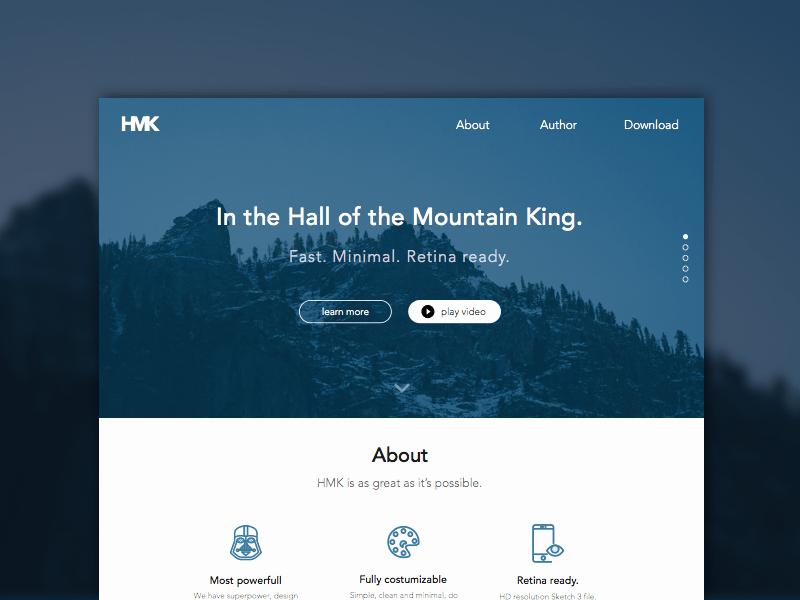 Google Web Page Template Inspirational Hmk Website Template Sketch Freebie Download Free
