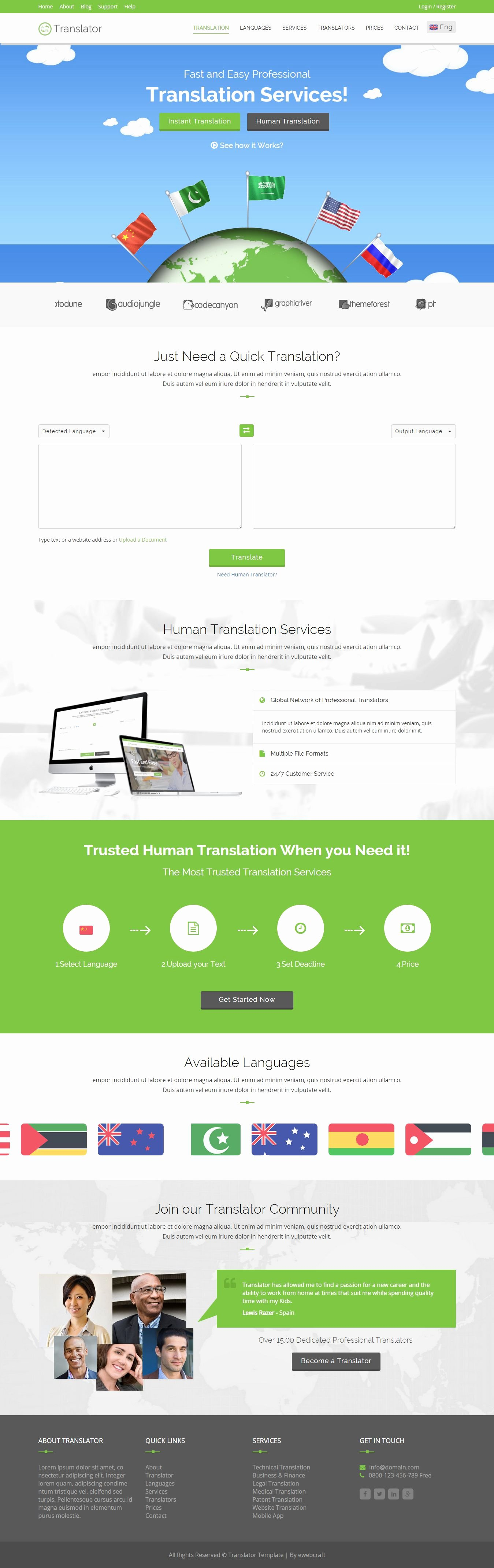 Google Web Page Template Luxury Translator is A Responsive Website Template for Language
