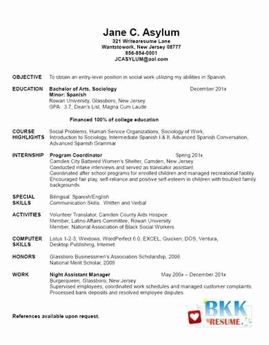 Graduate Nurse Resume Template Beautiful Example Of New Graduate Nurse Resume Jackie M