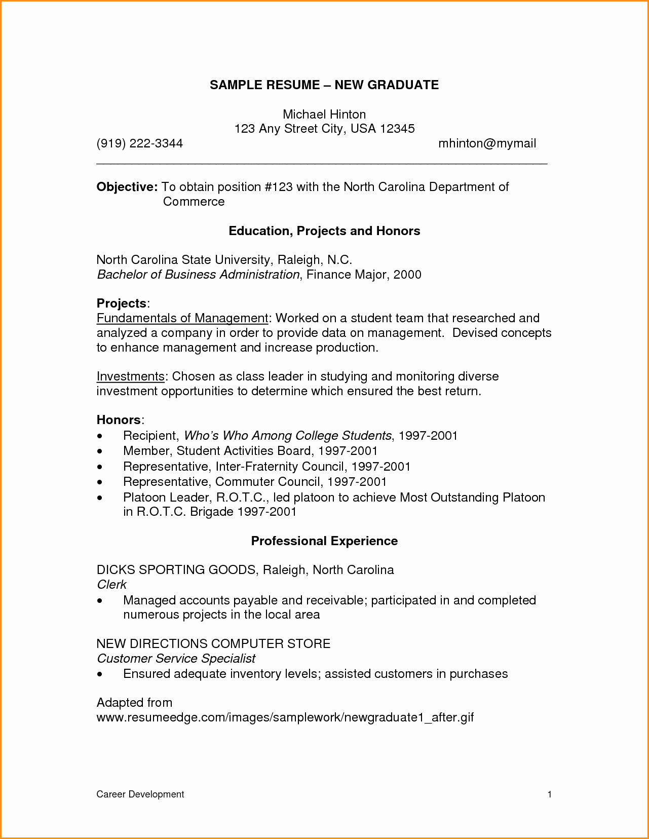 Graduate Nurse Resume Template Best Of 8 Graduate Nurse Resume Template