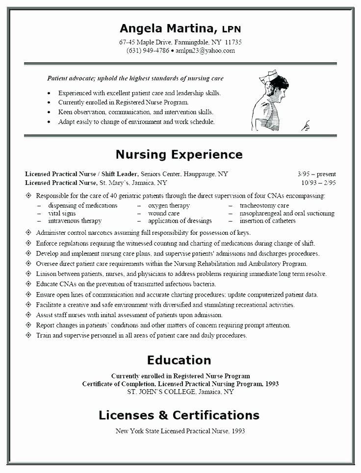 Graduate Nurse Resume Template Elegant Pretty Nurse Graduate Resume Gallery Resume