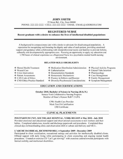 Graduate Nurse Resume Template Free Elegant Here to Download This Registered Nurse Resume