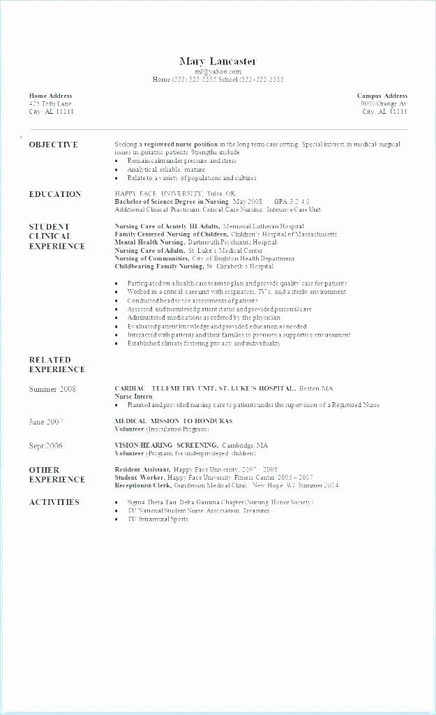 Graduate Nurse Resume Template Free Lovely Nursing Template Create My Nursing Template Registered