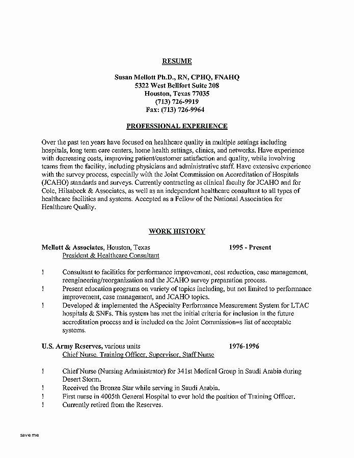 Graduate Nurse Resume Template Free New Long Term Care Nurse Resume