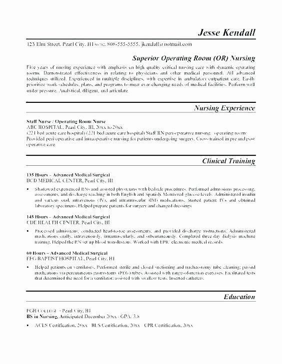 Graduate Nurse Resume Template Free Unique Nurse Cover Letter Template – Administrativelawjudgefo