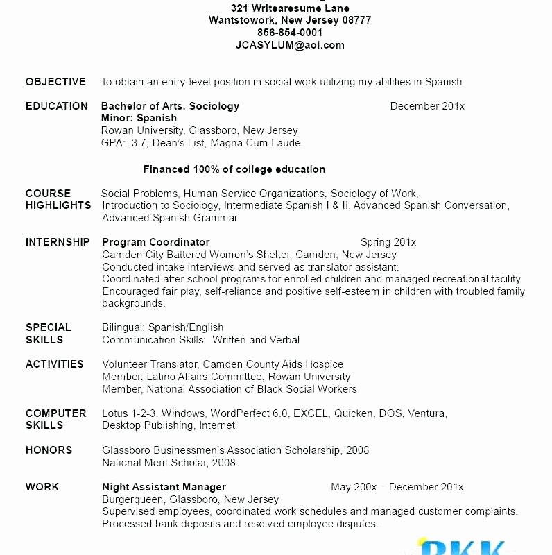 Graduate Nurse Resume Template Fresh New Graduate Nursing Resume Template – Trezvost