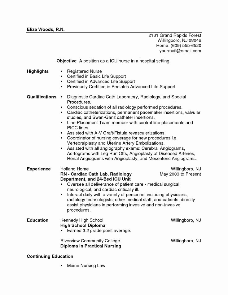 Graduate Nurse Resume Template New Sample Resume New Graduate Lpn Nurse Dental Vantage