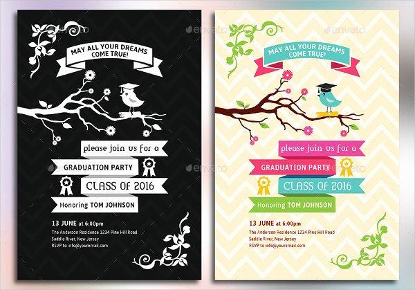 Graduation Invitation Card Template Awesome 7 Graduation Party Invitations Free Editable Psd Ai
