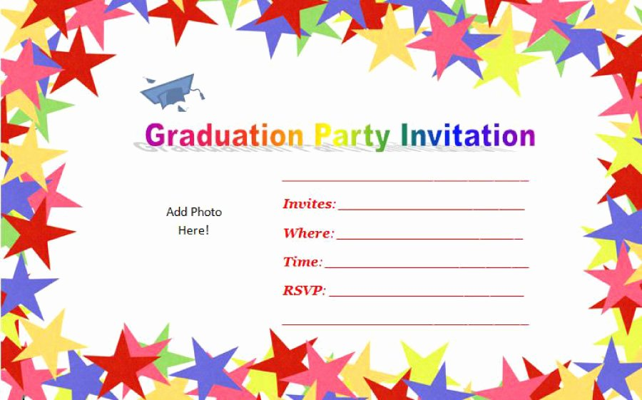 Graduation Invitation Card Template Beautiful 40 Free Graduation Invitation Templates Template Lab