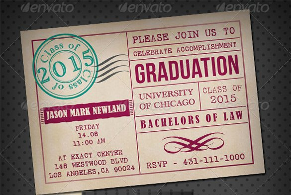 Graduation Invitation Card Template Best Of 15 Graduation Card Templates Psd Ai