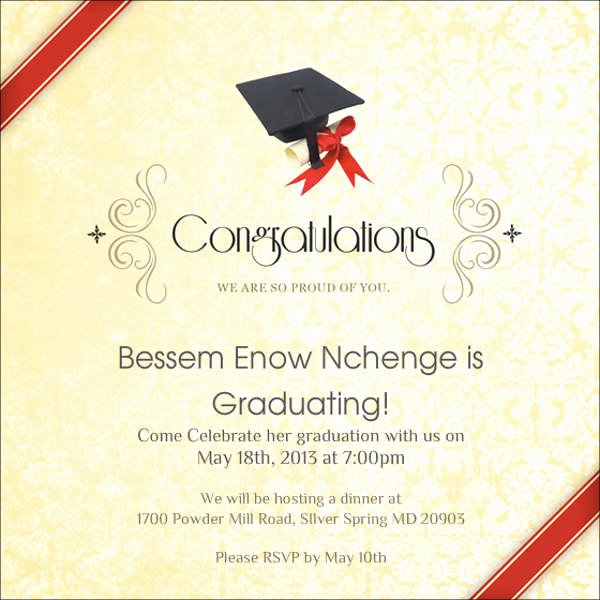 Graduation Invitation Card Template Best Of 83 Free Invitation Cards Psd Word Ai